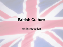 British Culture - Winston-Salem/Forsyth County Schools
