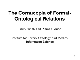 Formal Ontology - University at Buffalo