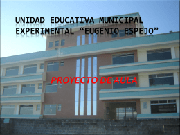 UNIDAD EDUCATIVA MUNICIPAL EXPERIMENTAL …