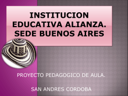 INSTITUCION EDUCATIVA ALIANZA.