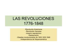 Las revoluciones (1776-1848) [PPT 421 KB]