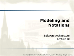 Modeling and Notations - Software Architecture