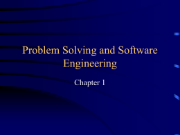 Problem Solving and Software Engineering