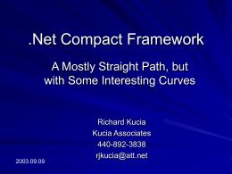 .Net Compact Framework - C#/VB.Net Special Interest …