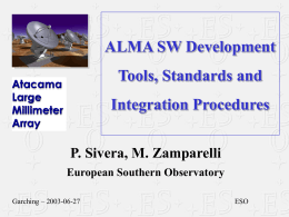 ALMA SW Development Tools and Integration Procedures