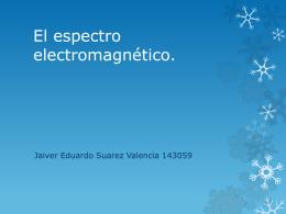 El espectro elegtromagnetico.