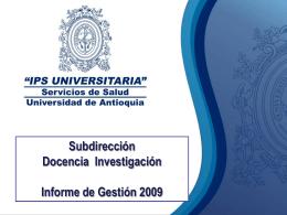 """Diapositiva 1 - """"IPS UNIVERSITARIA"""" Servicios de Salud"""