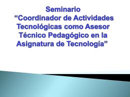 Diapositiva 1 - profesoradotecnicodidactica