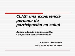 CLAS - ForoSalud - Foro de la Sociedad Civil en Salud