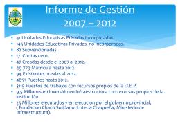 INFORME 2012 – FUENTE DE TRABAJO