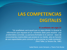LAS COMPETENCIAS DIGITALES