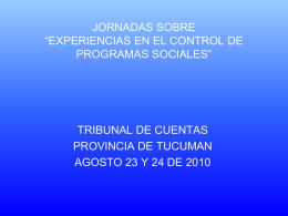 """JORNADAS SOBRE """"EXPERIENCIAS EN EL CONTROL DE …"""