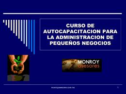 MATERIAL CURSO ADMINISTRACION PYMES