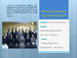 Primer Encuentro de Junioras 2014