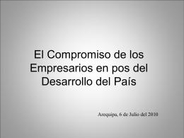 El Compromiso de los Empresarios en pos del Desarrollo …
