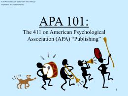 APA 101 - Claremont Graduate University