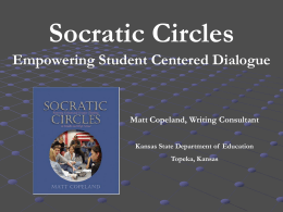 Socratic Circles - Education Transformation Office (ETO)
