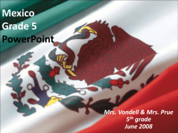 Mexico Grade 5 PowerPoint - Salmon River High School