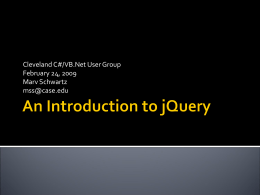 An Introduction to jQuery - C#/VB.Net Special Interest …