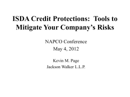 ISDA Credit Protections: Tools to Mitigate Your …