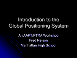 Introduction to Global Positioning Systems