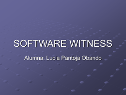 SOFTWARE WITNESS