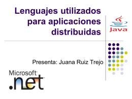 Lenguajes utilizados para aplicaciones distribuidas