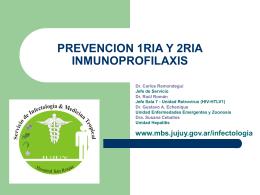 PREVENCION 1RIA Y 2RIA INMUNOPROFILAXIS
