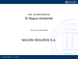 NACION SEGUROS S.A. - Secretaria de Ambiente y …