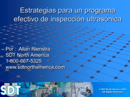 Strategies for an effective ultrasound inspection program