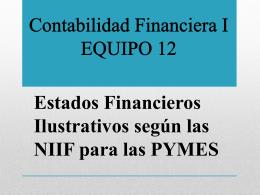 Contabilidad Financiera I EQUIPO 12