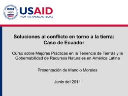 CONFLICTOS SOCIO AMBIENTALES EN EL ECUADOR