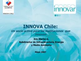 INNOVA Chile: Un socio activo para las empresas que …