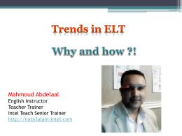 Trends in ELT