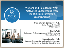 OCLC Programs & Research Overview