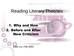 Reading Literary Theories