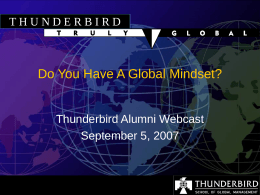 Do You Have A Global Mindset ?