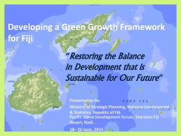 Steering Fiji towards a Green Economy Developing a Green