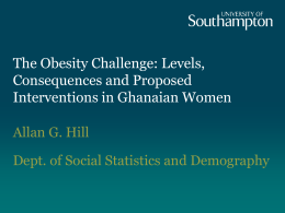 The Obesity Challenge: Levels, Consequences and …