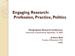 Engaging Research/Engaging Education