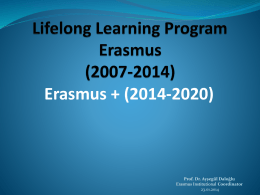 Lifelong Learning Program Erasmus (2007