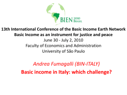 13th International Conference of the Basic Income Earth