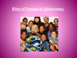 Rites of Passage in Adolescence.