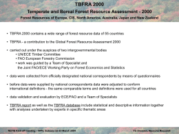TBFRA Temperate and Boreal Forest Resource Assessment