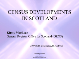 Scotland's Census 2011 Scotland Counts