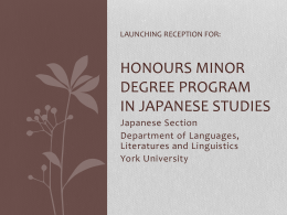 Honours Minor Degree |Program