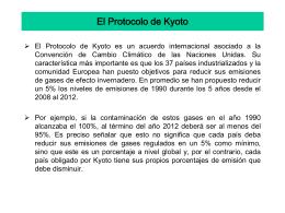 El Protocolo de Kyoto - Biblioteca Central de la