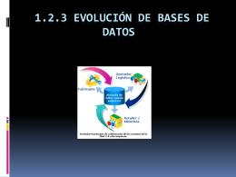 1.2.3 Evolucion de bases de datos