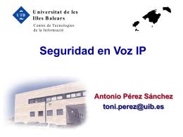 Experiencias de Voz IP en la Universidad de les Illes Balears