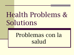 Health Problems & Solutions